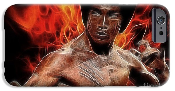 Recently Sold -  - Celebrities Art iPhone Cases - Bruce Lee iPhone Case by Michael Braham