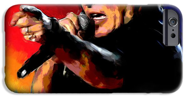Best Sellers -  - Bruce Springsteen Paintings iPhone Cases - Bruce Springsteen iPhone Case by Allen Glass