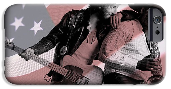 Springsteen iPhone Cases - Bruce Springsteen Clarence Clemons iPhone Case by Marvin Blaine
