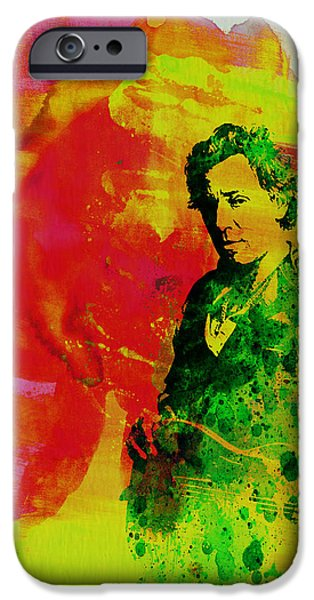 Springsteen iPhone Cases - Bruce Springsteen iPhone Case by Naxart Studio