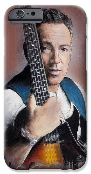 Springsteen iPhone Cases - Bruce Springsteen iPhone Case by Melanie D