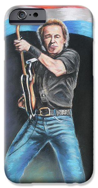 Bruce Springsteen  iPhone Case by Melinda Saminski
