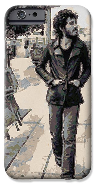 Bruce Springsteen Prints iPhone Cases - Bruce Springsteen iPhone Case by Paulette B Wright