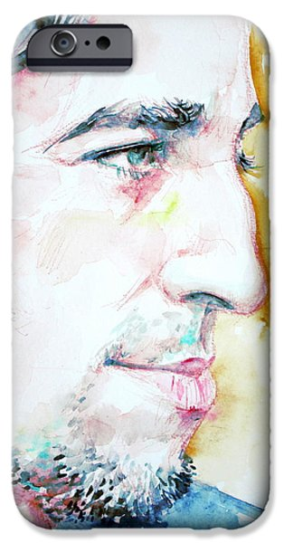 BRUCE SPRINGSTEEN PROFILE portrait iPhone Case by Fabrizio Cassetta