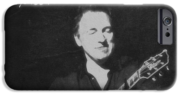 Nebraska iPhone Cases - Bruce Springsteen The Boss iPhone Case by Dan Sproul