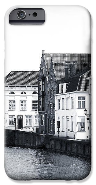 Bruges Canal Scene IX iPhone Case by John Rizzuto