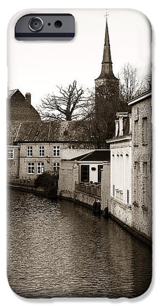 Bruges Canal Scene VII iPhone Case by John Rizzuto