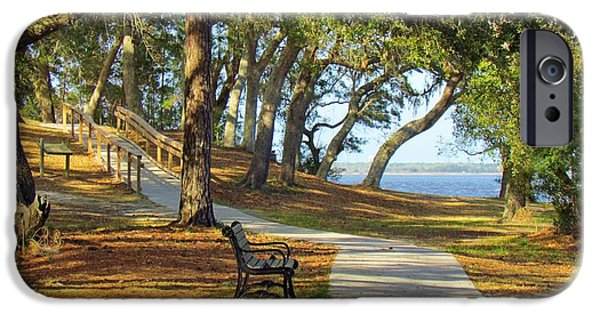 Pathway iPhone Cases - Brunswick Town iPhone Case by Cynthia Guinn