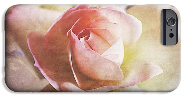 French Open iPhone Cases - Brushed Pink Rose iPhone Case by Janice Rae Pariza