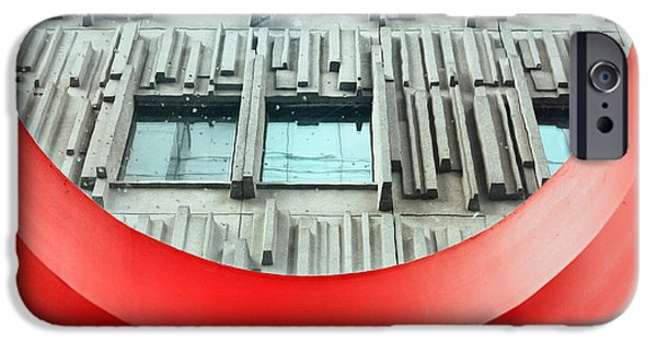 Brutalist iPhone Cases - Brutalist Architecture iPhone Case by Charline Xia