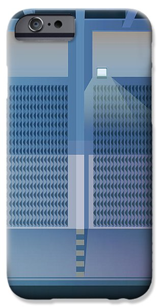 Brutalist iPhone Cases - Brutalist Car Park iPhone Case by Peter Cassidy