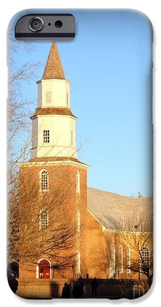 American Revolution iPhone Cases - Bruton Parish Episcopal Church iPhone Case by Patti Whitten