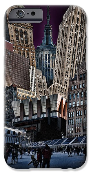 Bryant Park Collage iPhone Case by Chris Lord
