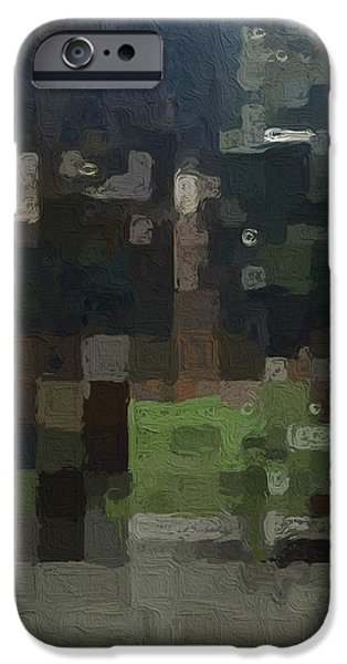 Abstract Digital Art Mixed Media iPhone Cases - Bryant Park iPhone Case by Linda Woods