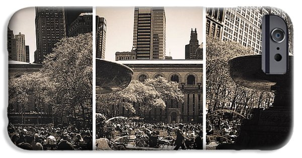 Bryant Photographs iPhone Cases - Bryant Park Panels iPhone Case by John Rizzuto