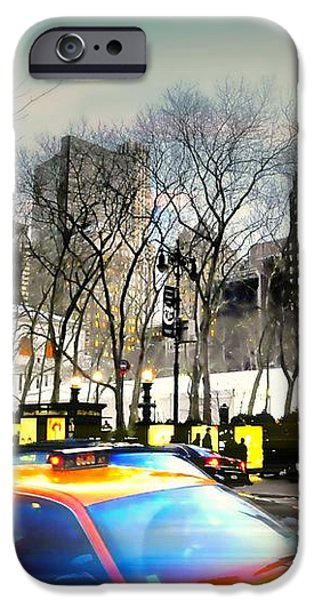 Bryant Park Taxi iPhone Case by Diana Angstadt