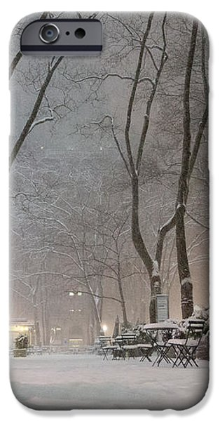 Bryant Park - Winter Snow Wonderland - iPhone Case by Vivienne Gucwa