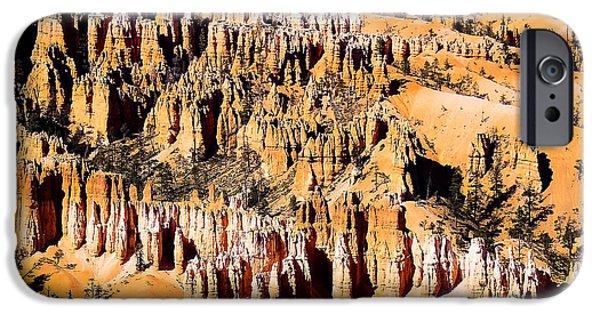 Utah iPhone Cases - Bryce Amphitheater D iPhone Case by Gloria Pasko