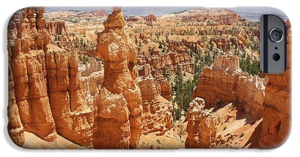 Rock Formation iPhone Cases - Bryce Canyon 3 iPhone Case by Mike McGlothlen
