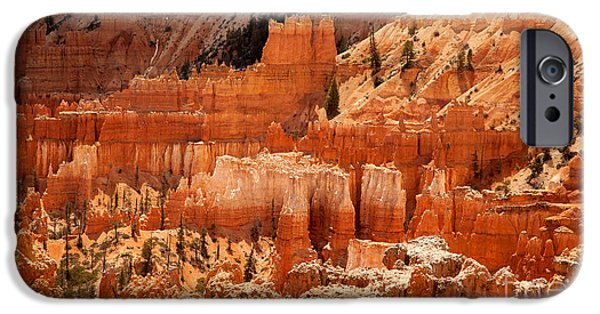 Red Rock iPhone Cases - Bryce Canyon landscape iPhone Case by Jane Rix