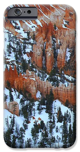 Wintertime iPhone Cases - Bryce Canyon Series Nbr 22 iPhone Case by Scott Cameron