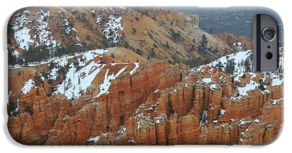 Wintertime iPhone Cases - Bryce Canyon Series Nbr 32 iPhone Case by Scott Cameron