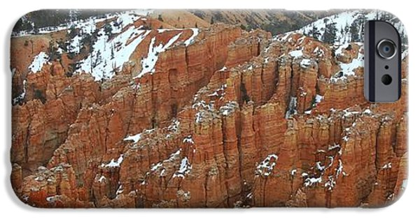 Wintertime iPhone Cases - Bryce Canyon Series Nbr 33 iPhone Case by Scott Cameron