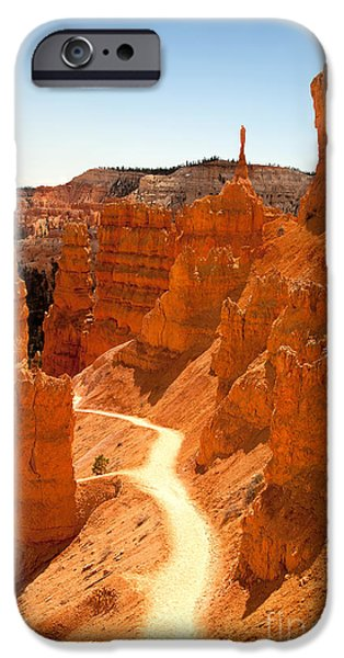 Spectacular iPhone Cases - Bryce Canyon trail iPhone Case by Jane Rix