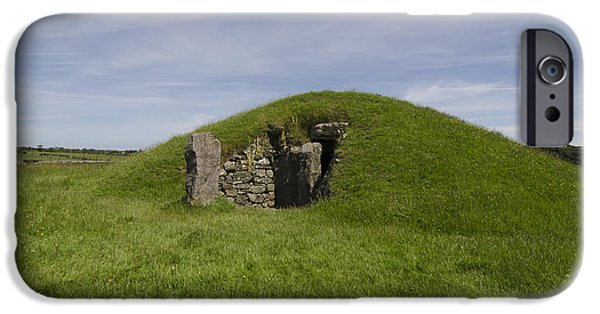 Mounds iPhone Cases - Bryn Celli Ddu iPhone Case by Steev Stamford