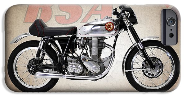 Motorcycle iPhone Cases - BSA Gold Star 1954 iPhone Case by Mark Rogan