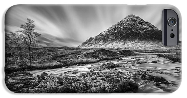 Beautiful Scenery iPhone Cases - Buachaille Etive Mor 2 iPhone Case by Dave Bowman