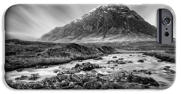 Beautiful Scenery iPhone Cases - Buachaille Etive Mor 3 iPhone Case by Dave Bowman