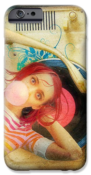Aerial View iPhone Cases - Bubblegum Pop iPhone Case by Aimee Stewart