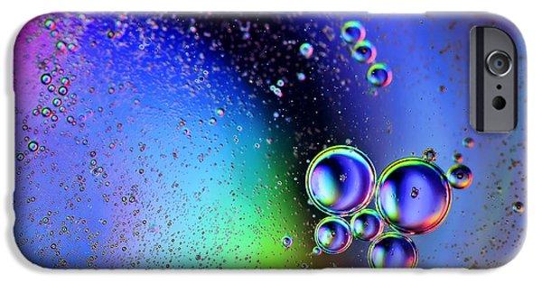 Oil Slick iPhone Cases - Bubbles iPhone Case by EXparte SE