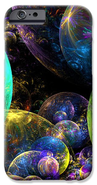 Bubbles Upon Bubbles iPhone Case by Peggi Wolfe