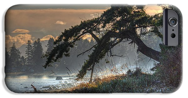 Mist iPhone Cases - Buccaneer Beach iPhone Case by Randy Hall