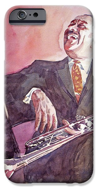Famous Faces iPhone Cases - Buck Clayton Jazz Horn iPhone Case by David Lloyd Glover