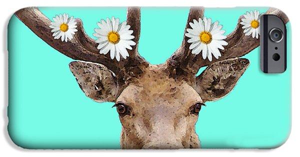 Upbeat iPhone Cases - Buck Deer Art - Dont Shoot iPhone Case by Sharon Cummings