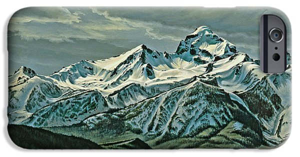 National Park Paintings iPhone Cases - Buck Mountain from Antelope Flat iPhone Case by Paul Krapf