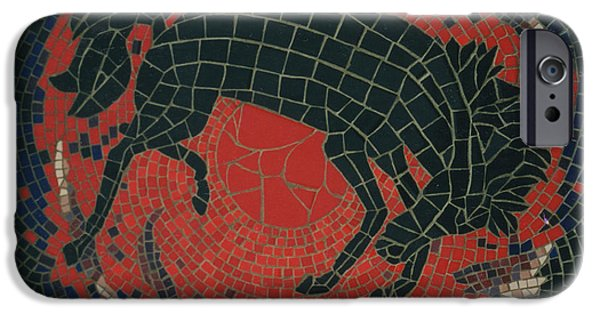 Horse Ceramics iPhone Cases - Bucking Bronco iPhone Case by Pj Flagg Tongue in Chic