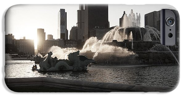 Willis Tower iPhone Cases - Buckingham Fountain iPhone Case by Christopher Purcell