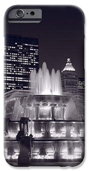 Buckingham Fountain Panorama iPhone Case by Steve Gadomski