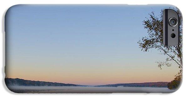 Bucks County iPhone Cases - Bucks County - Lake Nockamixon in the Morning iPhone Case by Bill Cannon