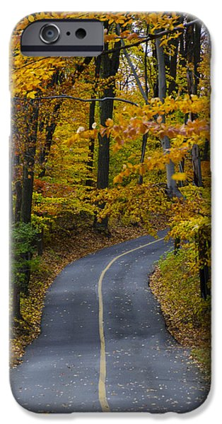 Bucks County iPhone Cases - Bucks County Road in Autumn iPhone Case by Bill Cannon