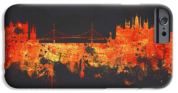 Buildings Mixed Media iPhone Cases - Budapest Hungary iPhone Case by Aged Pixel