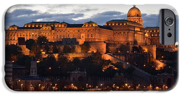 River View iPhone Cases - Budapest Palace at night Hungary iPhone Case by Imran Ahmed