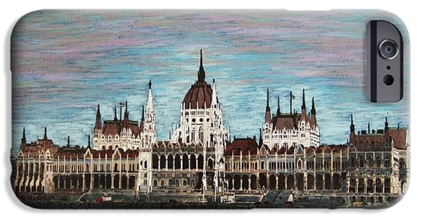 Fabulous Gifts iPhone Cases - Budapest Parliament by Jasna Gopic iPhone Case by Jasna Gopic