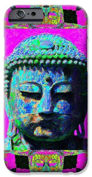 Buddha Abstract Window 20130130p0 iPhone Case by Wingsdomain Art and Photography