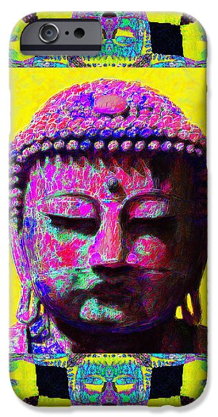 Buddha Abstract Window 20130130p120 iPhone Case by Wingsdomain Art and Photography