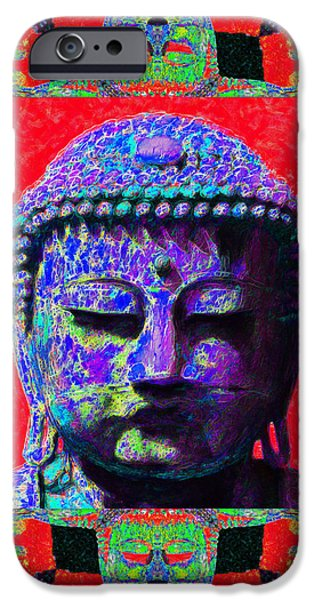 Buddha Abstract Window 20130130p55 iPhone Case by Wingsdomain Art and Photography